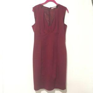 T Tahari Burgundy Sheath Dress 6